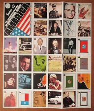 1976 Eddie Sargent 32 Stamps Ser 2 Uncut Sheet Babe Ruth Sam Snead The Beatles