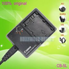 Genuine Original CANON CB-5L Charger for BP-511 BP-511A BP-512 BP-514 Battery