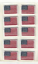 "Small American Flag Patch Sheet of 10 Sticky Back 1 1/4"" x 7/8"" Embroidered"
