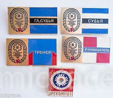 RUSSIAN SOVIET 5 badges Referee, coach sport games 1981 USSR