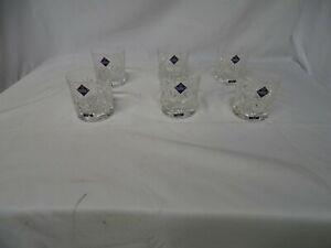 Edinburgh Crystal - High Quality set of 6 Cut Glass Whiskey Glasses