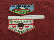 2 Boy Scout Delmont 43 Valley Forge OA Lodge WWW Council Flap Patch