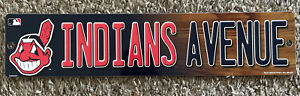 MLB Plastic Sign Chief Wahoo Cleveland Indians Blvd Street Road Sign 4x16in