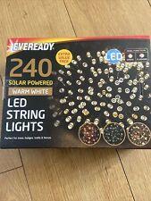Eveready 240 Solar Powered Warm White Led String Lights New