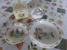royal doulton bunnykins england money ball ,saucer & cereal bowl(soup)