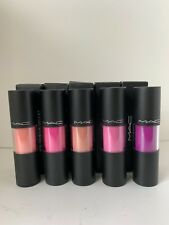 LOT OF 5 ASSORTED MAC VERSICOLOUR STAIN ENERGY SHOT/ CONSTANT CRAVING/CEASELESS