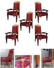 ANDRE ARBUS ( DANS LE GOUT DE ) suite de 5 grands fauteuils art Deco vers 1940/1