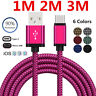 1m 2m 3m Fast Data Charge Charging Cable For iPhone 6 6s 7 8PlusType C Micro USB