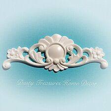4x Shabby Chic French Furniture Moulding Furniture Applique Carving Onlay
