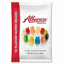 Albanese Candy 12 Flavor Gummi Bears 5 Pound Bag