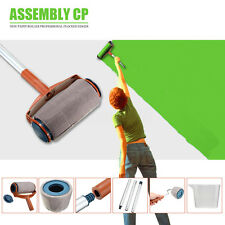 6Pcs Pro Paint Brush Handle Roller Flocked Edger Room Wall Painting Runner New