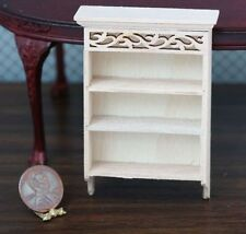 Dollhouse Miniature 1:12 Hand Carved Wall Shelf w/Crown Molding