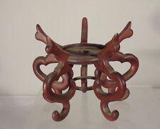 Vintage Chinese Carved Hardwood Stand Base Mahogany Rosewood Teak