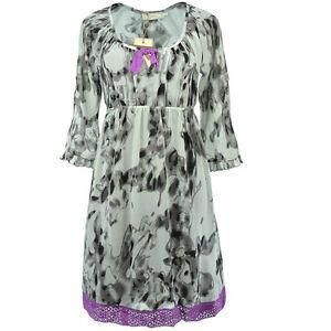 SALE 70% CREAM Kleid 2 in 1 Unterkleid Spitzenkleid Chiffon Gr. 36 38 40 42 NEU