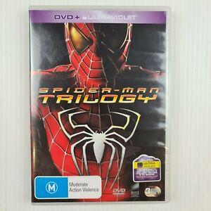 Spider Man 1 + 2 + 3 DVD Trilogy - 3 Disc Set - Region 2 & 4 - TRACKED POST