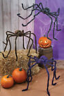 """90"""" Giant BIG Hairy Furry Posable Spider Scary Halloween Decor Brown Gray Black"""