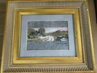 "Herbert Haulman Ruthrauff (b1894) ""Landscape Scene"" Watercolor Painting - Framed"