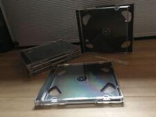 Doppel-CD-Hüllen Jewel Case 2 Fach für 5 CDs/DVDs- 5 Stück - schwarz *LOOK*