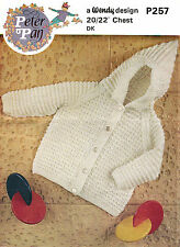 Baby cardigan with hood in DK knitting pattern 0166