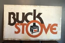 """Vintage Original One Of A Kind """"Buck Stove"""" Company 60"""" X 36""""(5ft X 3 Ft) Sign"""