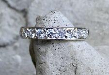 Platinum 8 Diamond Set Eternity Wedding Band Ring (.40 ct approx, size O)