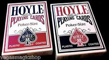 Hoyle Standard Red & Blue Deck Set Playing Cards Poker Size USPCC Plastic Coated