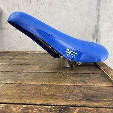 Shotgun Old School BMX Seat Vintage BLUE 24 Hole Shot Gun 80s GT Mongoose K3