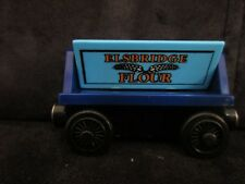 Thomas & Friends Wooden Railway flour car magnetic sodor dairy blue elsbridge