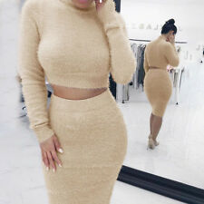 Women Autumn Winter Long Sleeve Jumper Sweater Top Slim Party Bodycon Mini Dress