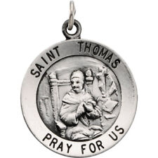 St. Thomas Medal In Sterling Silver (18mm)