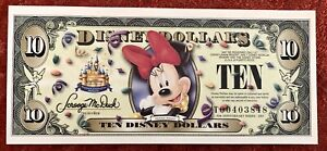 2005 $10 Minnie Mouse Disney Dollar 50th Anniversary Uncirculated
