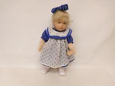 ESF-02309Käthe Kruse Puppe, Kunststoffkopf auf Stoffkörper