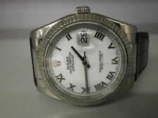"Rolex Datejust 116139 18K White Gold 36MM Strap Watch. ""F"" Series."