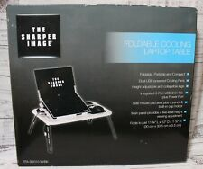 FOLDABLE COOLING LAPTOP TABLE The Sharper Image NEW IN BOX
