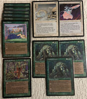 X12 Fallen Empires 1994 Green White VG Played MTG Magic the Gathering