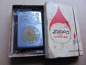 """1967 Original Vietnam War Zippo Lighter """"...Damn You Uncle Barry"""""""
