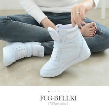 Women's Sneakers Lace Up Athletic High Top Ankle Boots Wedge Heel Casual Shoes