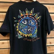 Vtg 90s Black Umbro Sand Soccer Graphic Single Stitch T Shirt L