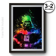 Star Wars Poster - Darth Vader Movie Art - Abstract Giclee Wall Art Prints