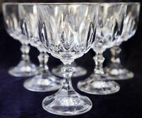 Vintage RCR Lead Crystal Wine Goblets made in Italy- set of 6 Ambassador pattern