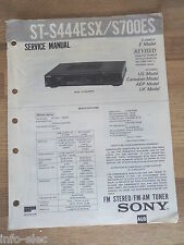 Schema SONY - Service Manual FM Stereo FM-AM Tuner ST-S444ESX ST-S700ES