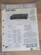 Schema SONY - Service Manual FM Stereo FM-AM Tuner ST-S444ESX ST-S700ES