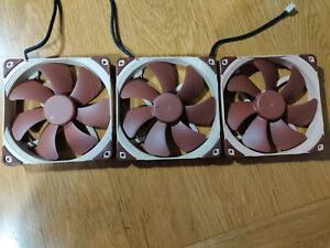 Noctua NF-A14 FLX 1200RPM Fans x3