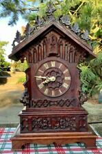 Antique German Black Forest Gothic Styled Table/Shelf Cuckoo in Running Order