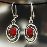 Koralle Silber 925 Ohrringe Damen Schmuck Sterlingsilber H240