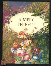 Bunny Rabbit Flowers Hummingbird Perfect Ornate Happy Birthday Greeting Card New