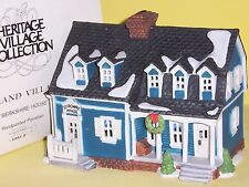 "DEPT 56 ""BERKSHIRE HOUSE"" NEW ENGLAND VILLAGE, BLUE VERSION"