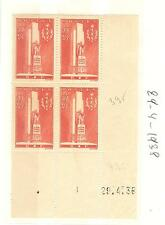 TIMBRES FRANCE BLOC DE 4 COINS DATE YVERT N° 395