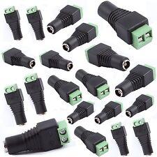 DC12V Power Plug  Connector 5050 3528 led strip light Power Supply (5) Pk