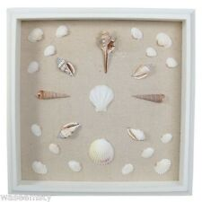 3D Seashell Shadowbox Frame Naurical Beach Coastal Seaside Lighthouse Wall Decor